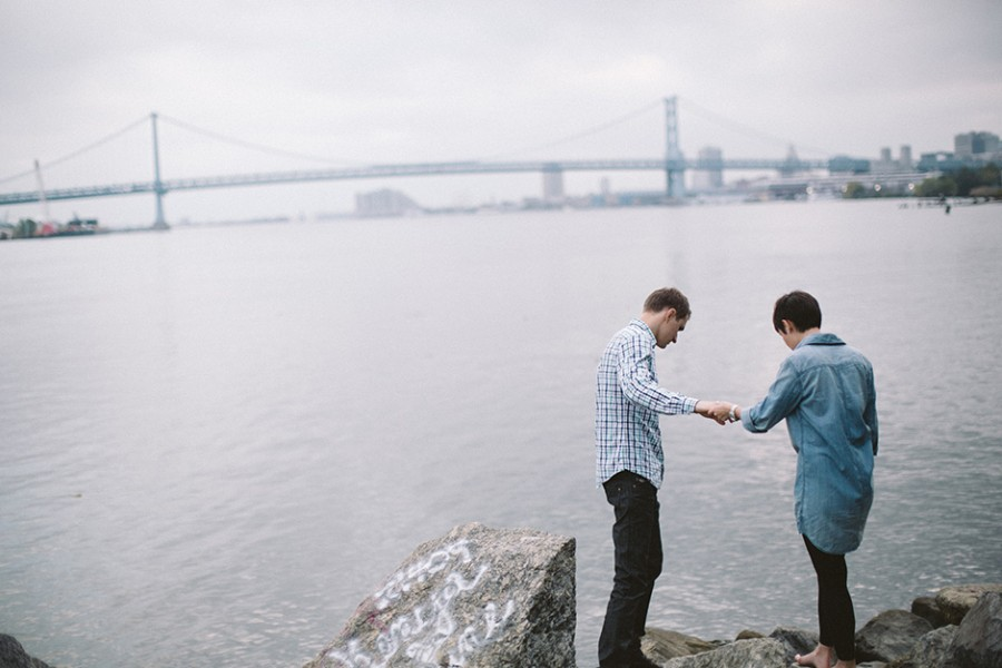 Penn Treaty Park engagement :: Sana and Vova :: October 17, 2013