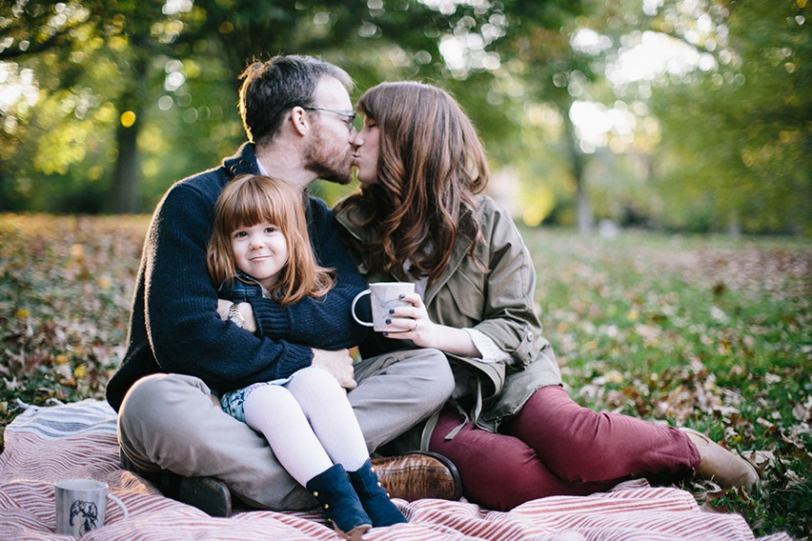 Chestnut Hill family portraits :: Sarah, Sean and Eva :: October 27, 2013