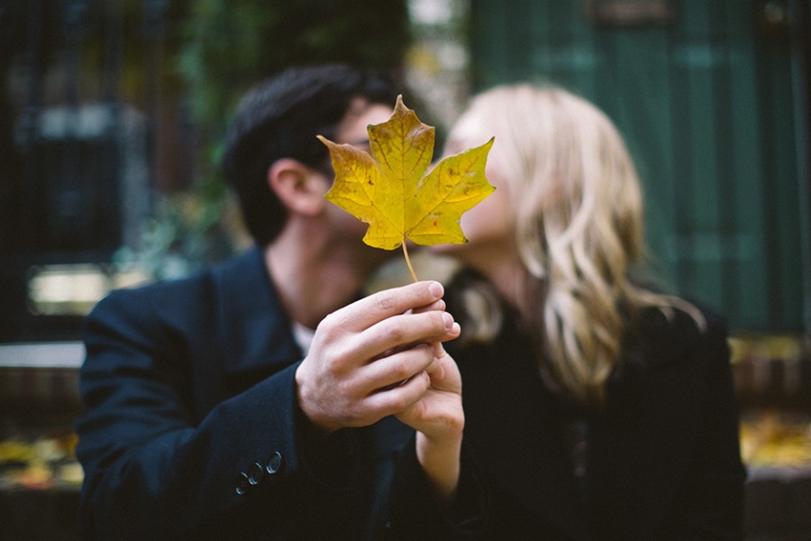 Washington Square Park and Talula's Garden engagement :: Diana and Greg :: November 10, 2013