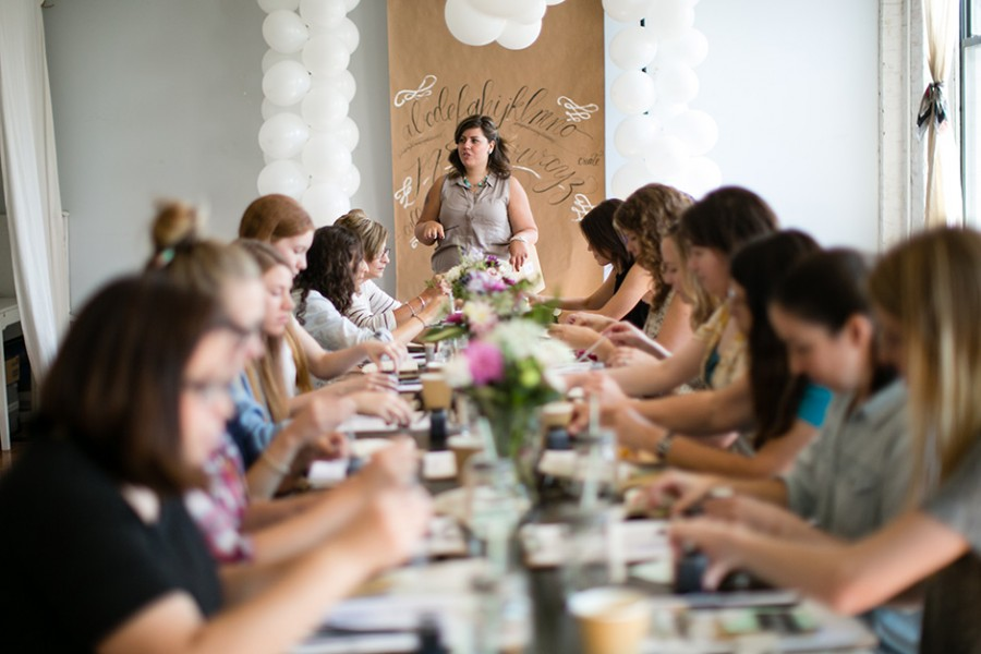 Philly Calligraphy Brunch at our studio :: recap and photos