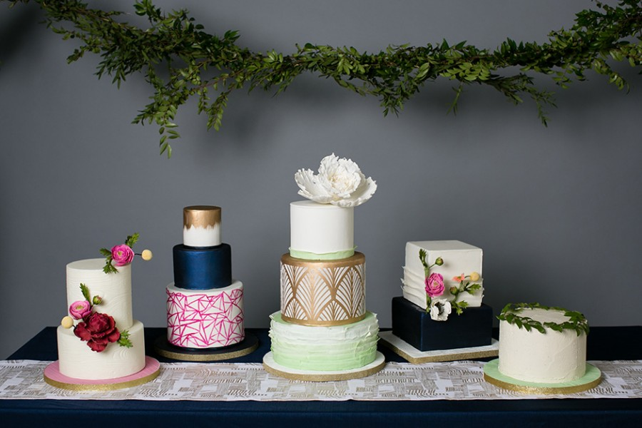 Styled shoot :: Cake tasting inspiration with Nutmeg Cake Design