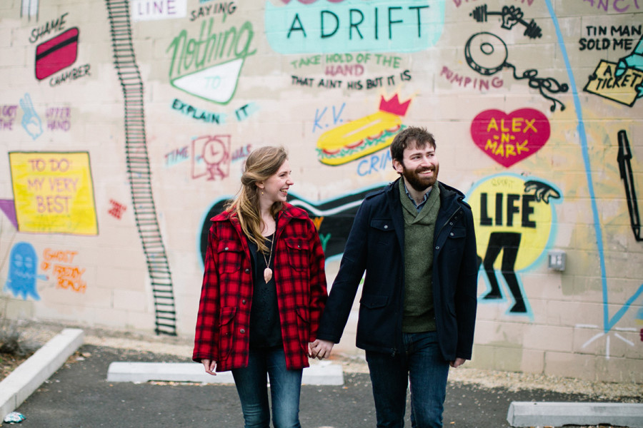 Fishtown and Penn Treaty Park engagement :: Julia and Kevin