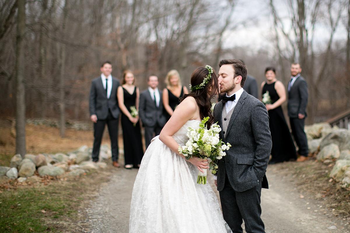 waterloo village winter wedding riley and stephen